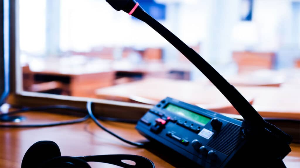CIT: Cal Interpreting & Translations Sound Booth for on-site interpreter with translation equipment